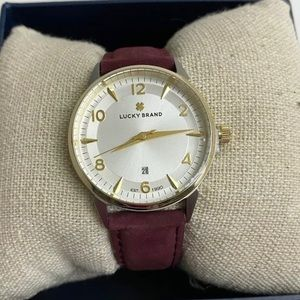 Lucky Brand Torrey Berry Suede Leather Watch 34mm